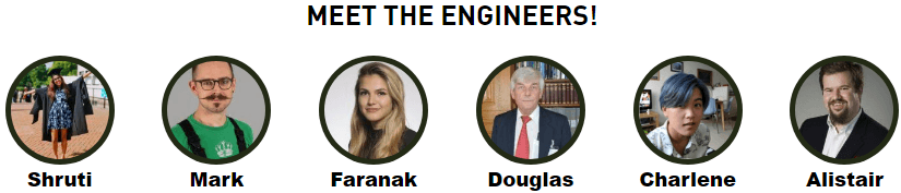 Photos of the engineers taking part in the Milligram Zone